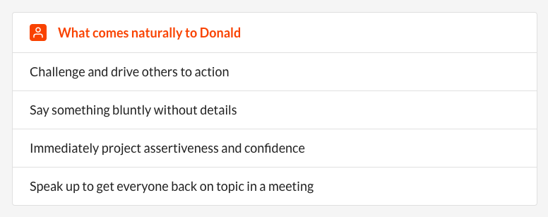 Donald Trump Personality what comes naturally